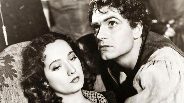 艾米莉笔下的传奇人物希斯克里夫(图中为奥利维尔[Laurence Olivier]版的希斯克里夫)对浪漫主义文学产生了巨大影响。