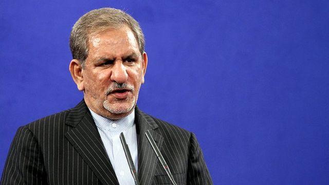 اسحاق جهانگیری، معاون رئیس جمهوری ایران میگوید در کمتر از یکسال صادرات نفت ایران به بالاترین سطح در دوران پس از انقلاب رسیده است