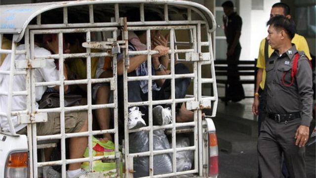ชาวเกาหลีเหนือที่เข้าไทยโดยผิดกฎหมายถูกควบคุมตัวไปยังศูนย์กักกันฯของตม.