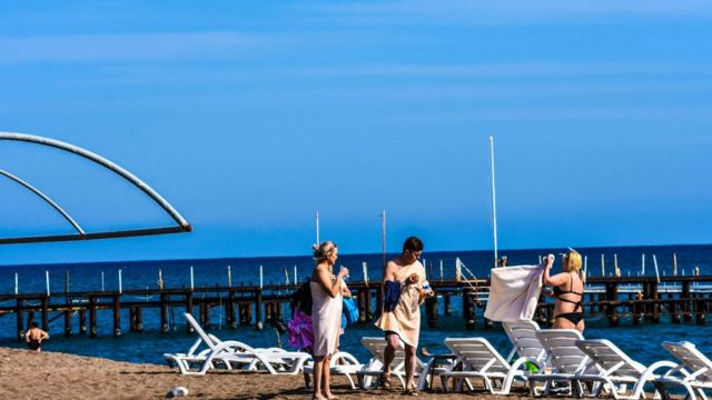 Antalya'da turistler
