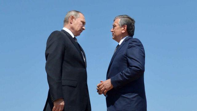 Шавкат Мирзиёев и Владимир Путин