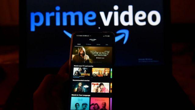Amazon premium en una televisión