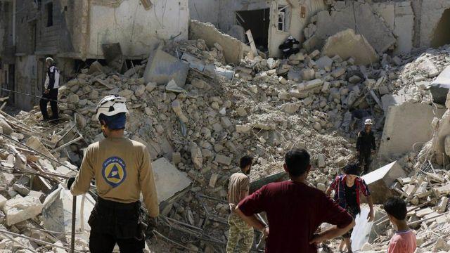 بخش هایی از حلب با خاک یکسان شده