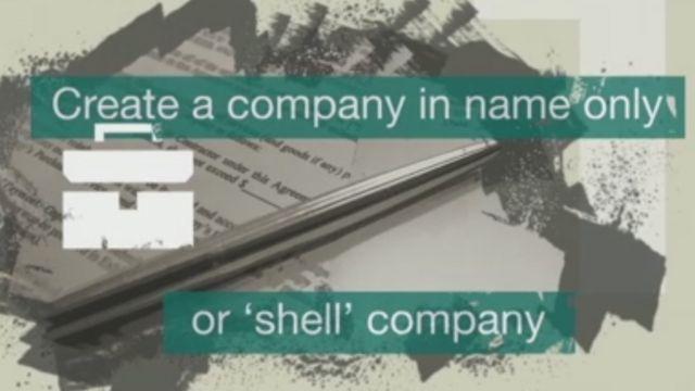 શેલ કંપનીઓનું સાંકેતિક ચિત્ર