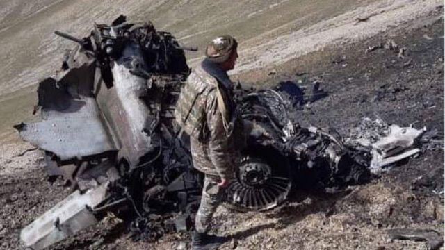 Фото предположительно сбитого армянского Су-25