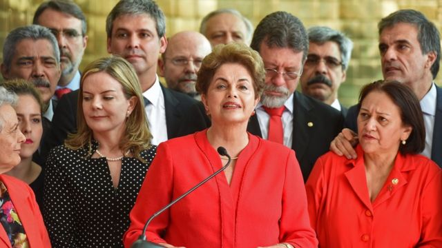 Dilma Rousseff discursa no Palácio da Alvorada