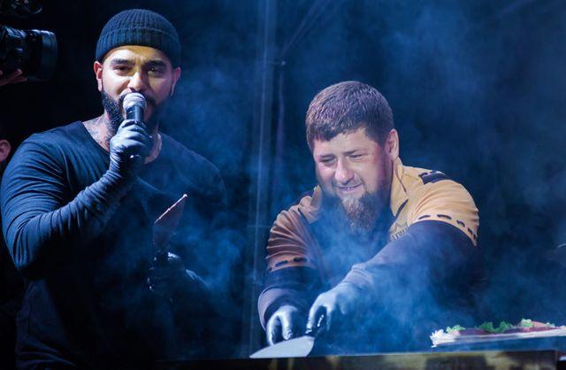 Тимати и Рамзан Кадыров открывают кафе Black Star Burger на проспекте Путина в Грозном