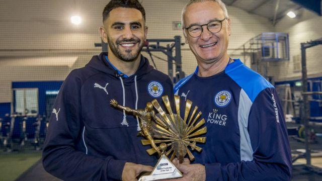 Mahrez ari kumwe n'umumenyereza wiwe wa Leicester Claudio Ranieri