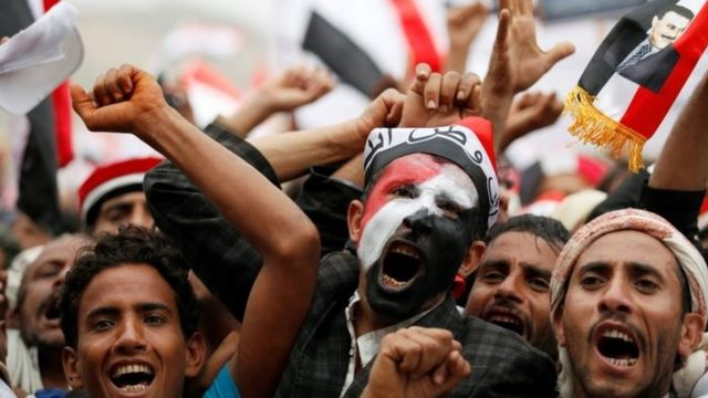 manifestants à Sanaa le 20 août 2016.