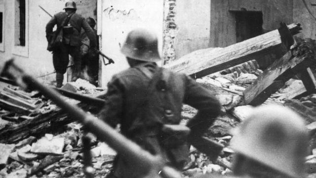 Soldados del Bando Nacional durante la Guerra Civil Española