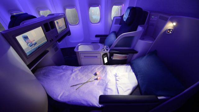 ที่นั่งชั้น First Class เครื่องบินโบอิ้ง รุ่น 747