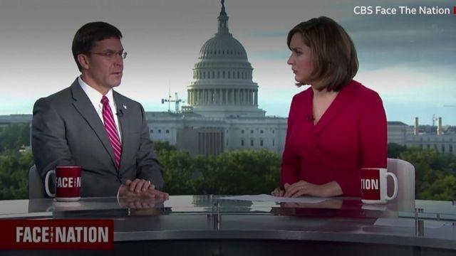 آقای اسپر با مارگارت برنان از شبکه سی بی اس مصاحبه می کرد