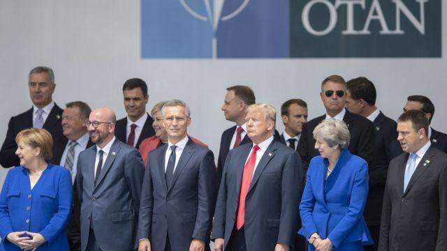 Trump yavugiye aya magambo i Buruseri mu Bubirigi, aho yari yitabye inama ya OTAN