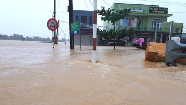 The heavy rainfall has caused some of the worst flooding that Vietnam has suffered in decades