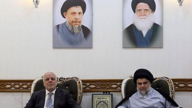 ائتلاف صدر (راست) و عبادی (چپ) مورد حمایت آمریکاست