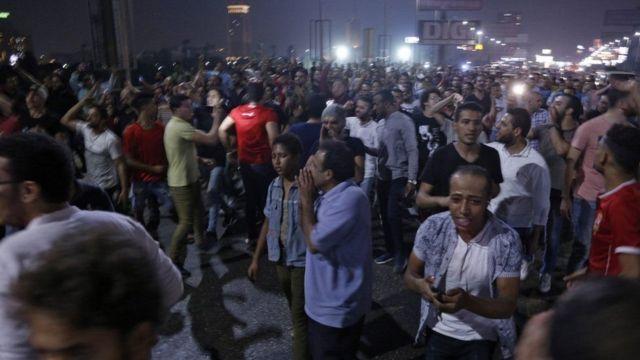 متظاهرون ضد السيسي