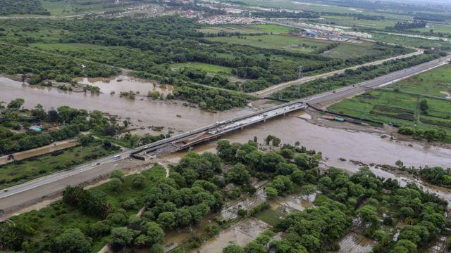 Zona de cultivos de Sullana, en la región Piura, afectada por las lluvias.