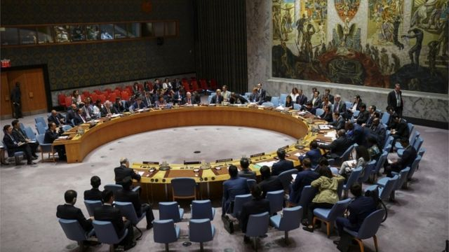 United Nations Security Council meeting at UN headquarters