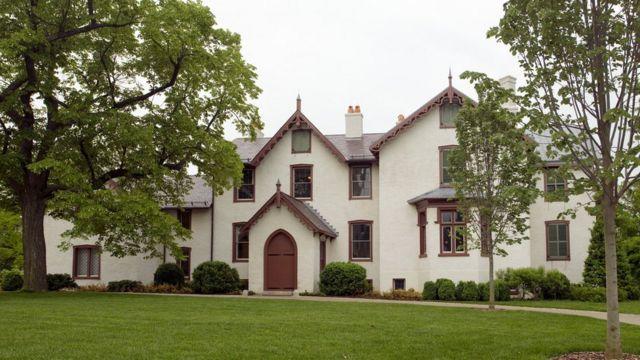 Fachada do Museu President Lincoln's Cottage
