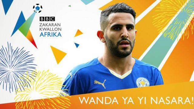 Riyad Mahrez ne ya lashe kyautar Gwarzon dan kwallon Afirka na BBC na 2016