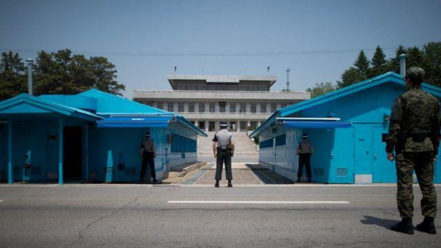South Korean soldiers at Panmunjom