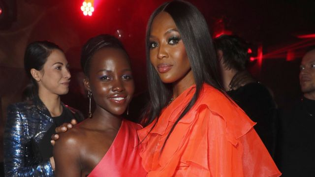 Le mannequin Naomi Campbell, l'actrice Lupita Nyong'o