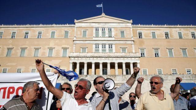 Protesta en Atenas.