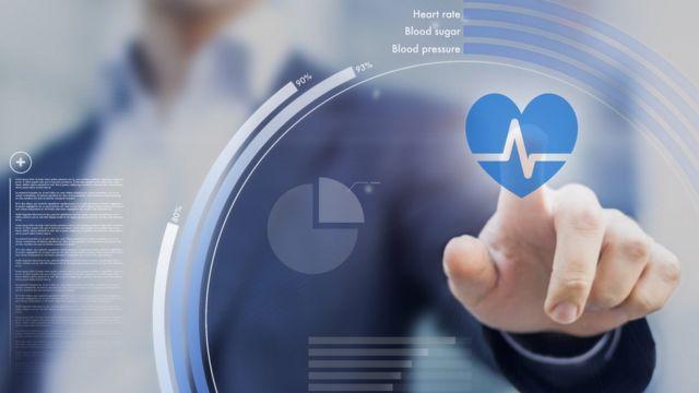 Медицинский дисплей с кардиограммой