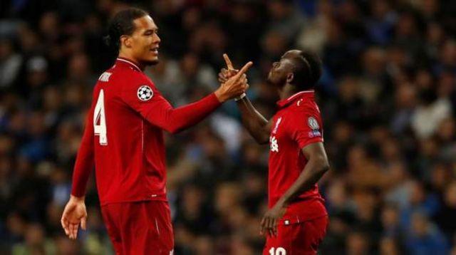 Wachezaji wa Liverpool wakisherehekea ushindi wao dhidi ya Porto