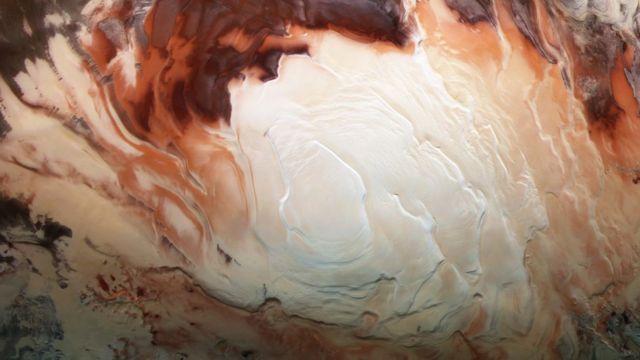 Región polar austral de Marte.