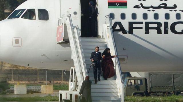 الطائرة الليبية المختطفة