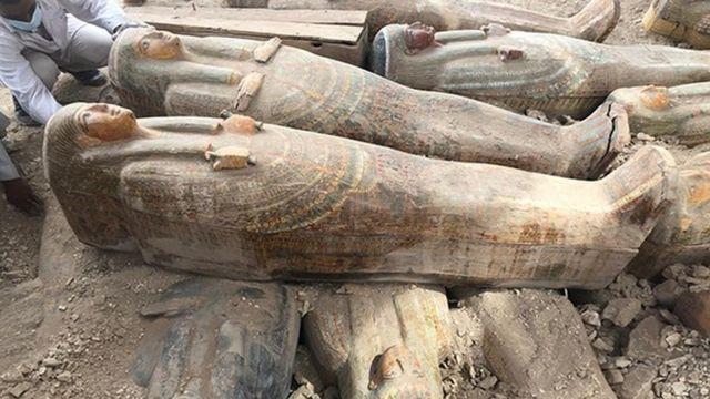 Древнеегипетские саркофаги найдены близ города Луксор