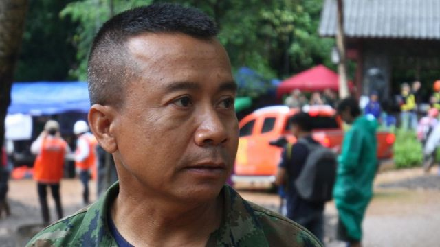 Picture of Commander Abhakut Kongkaew, of Thai Special Naval Warfare