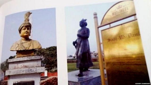 পলাশী স্মৃতি চত্বর ও মতিঝিল কমপ্লেক্সে সিরাজউদ্দৌলার ভাস্কর্য