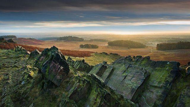 Granito en paisaje británico