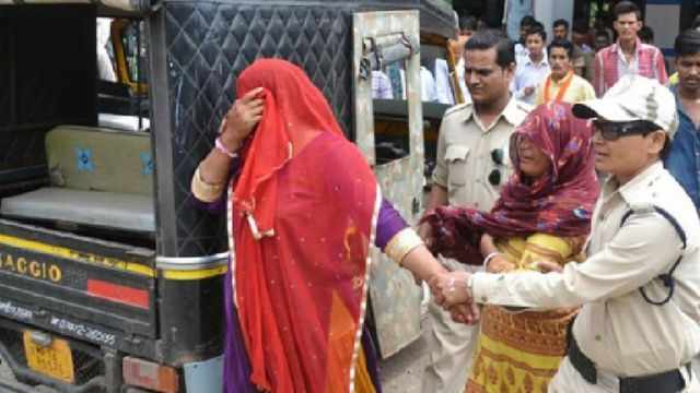Two Muslim women were also arrested on suspicion of selling beef on Wednesday