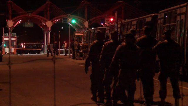 Military build-up at the Hungary and Croatia border