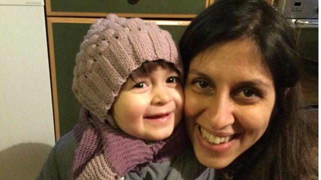 Nazanin Zaghari-Ratcliffe and her daughter Gabriella