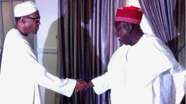 Gomina Umar Ganduje ati aarẹ Buhari