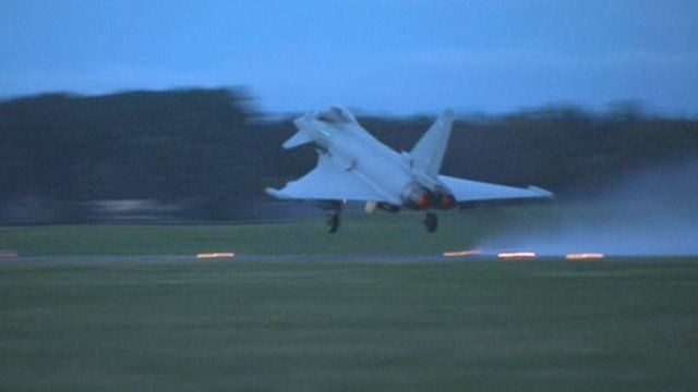 Jet takes off from RAF Lossiemouth