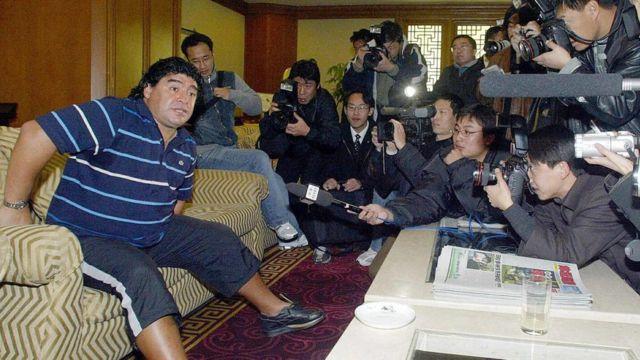 Maradona en China en 2003