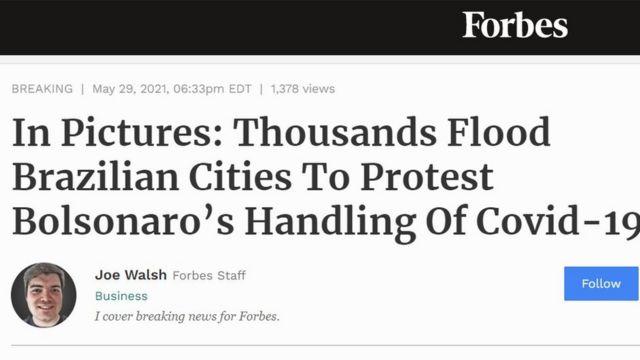 Reportagem da revista Forbes