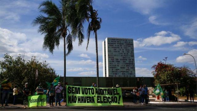 Protesto pelo voto impresso em Brasília