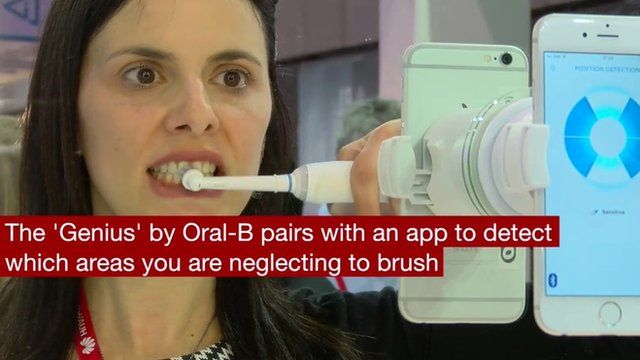 mwc 2016 oral b smart toothbrush app spots dirty teeth bbc news