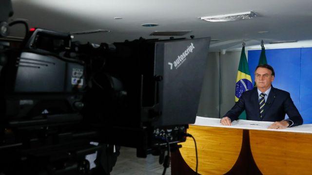 Jair Bolsonaro em pronunciamento