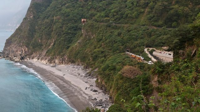 Rescuers work at the site a day after a deadly train derailment at a tunnel north of Hualien, Taiwan April 3, 2021.