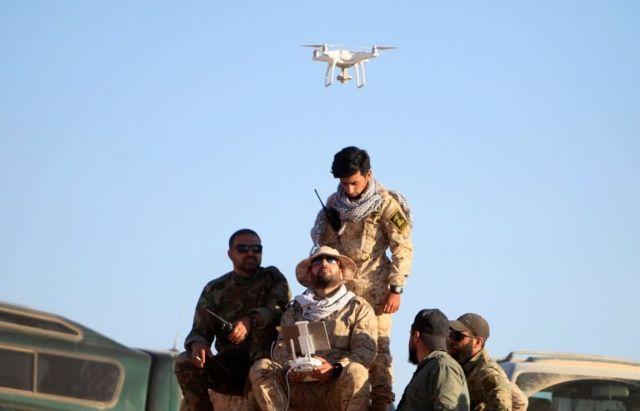 نیروهای حزبالله لبنان در حال تمرین با پهپاد