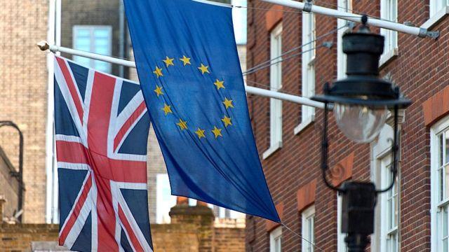 Banderas de Europa y Reino Unido