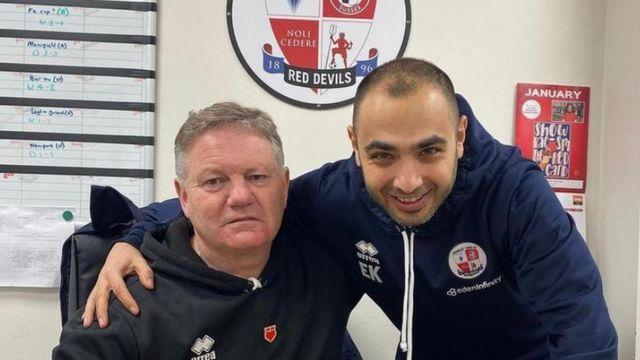 Crawley Town Menajeri Jon Yems ve Sportif Direktör Erdem Konyar