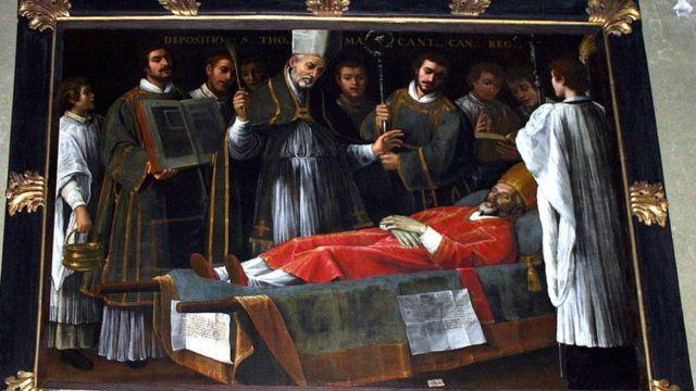 Погребение Томаса Бекета. Картина Джузеппе Вермильо.